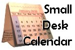 small calendar