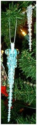 Beaded Icicle Ornaments