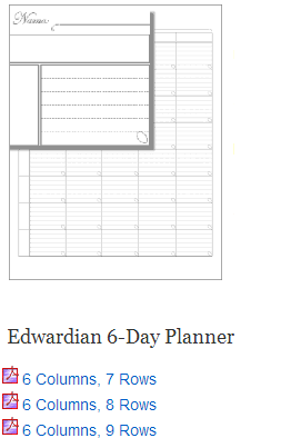 6-day-planners