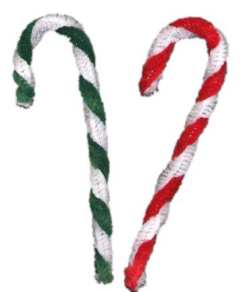candy cane ornaments from pipe cleaners