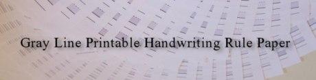Gray Line Printable Handwriting Rule Paper