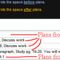Lesson Plan Columns to Planners