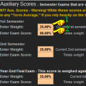 Auxiliary Year-End and Semester Scores