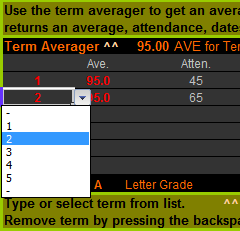 Term Averager
