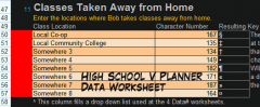 High School Data Worksheet