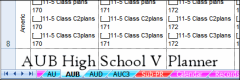 V4's High School AUB Lesson Planner