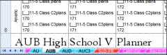V4's High School AUB Lesson Planner
