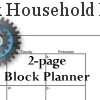Dated 2-Page Block Planner for the Household Planner