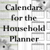One-Page Yearly Calendars for the Full Sized Household Planner