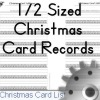 christmas card sent/received records for the 1/2 sized planner