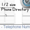 phone directory for the 1/2 sized planner