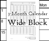Calendars - 3-Month - WIDE