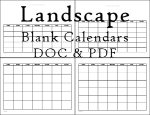 This page features three styles of printable blank calendars with a layout of one month per page in landscape. Read more about the styles at the page.