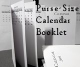 Purse-Sized Calendar Booklet