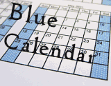 School Calendars and Yearly Calendars in Blue and White