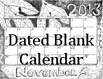 Donna's Dated Blank Calendar