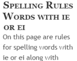 Words with ie or ei