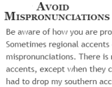 Avoid Mispronunciations