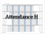 Attendance H - an attendance calendar that can be used for several children.