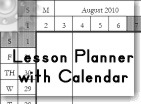 Lesson Planner with a Calendar