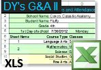 Grades and Attendance II XLS file