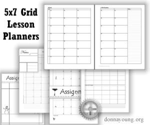 Printable 5x7 Grid Lesson Planners