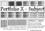 Portfolio X - Generate a Homeschool Planner (rtf) with Class Names, Child's Name, Grade, and School Year