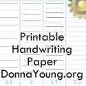 Printable Handwriting and Filler Paper