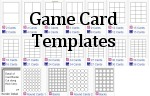 game card templates