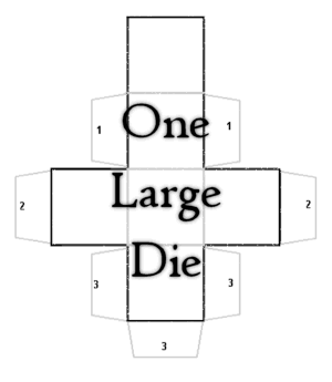 One Large Printable Bland Die