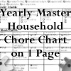 a master yearly household chore chart list for the household planner