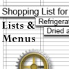 shopping lists and menus for the household planner