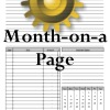 Month on a Page in Household Planners