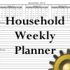 weekly ruled household planner