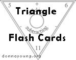 triangular flash cards