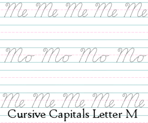 Connecting Cursive Capitals Letter M
