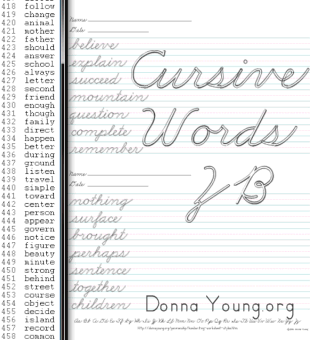 ZB - Cursive Words Handwriting Lessons