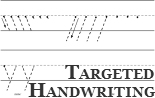 Targeted Teaching Manuscript Handwriting