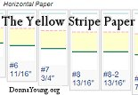 yellow stripe handwriting rule paper