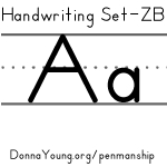 handwriting worksheets for the letter a in zaner bloser style