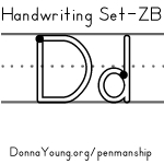 ZB Manuscript Handwriting Worksheets