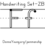 handwriting worksheets for the letter f in zaner bloser style