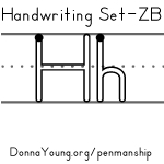 handwriting worksheets for the letter h in zaner bloser style