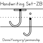 handwriting worksheets for the letter j in zaner bloser style