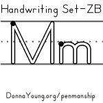 handwriting worksheets for the letter m in zaner bloser style