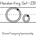 handwriting worksheets for the letter o in zaner bloser style