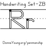 handwriting worksheets for the letter r in zaner bloser style