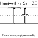 handwriting worksheets for the letter t in zaner bloser style