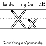 handwriting worksheets for the letter x in zaner bloser style