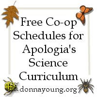 Schedules for Apologia's Science Books -  Both co-op and individual schedules